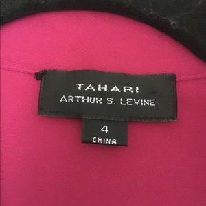 Tahari Dresses - Tahari ASL Bright Pink Sheath Shirt Dress Size 4